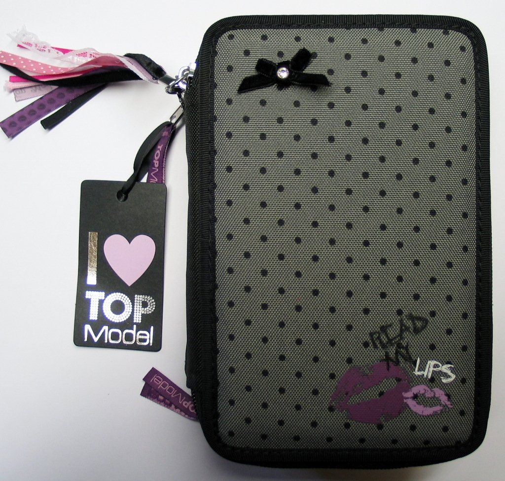 top model 3 fach federmappe federtasche lips sch leretui