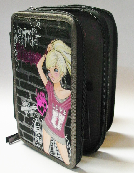 TOP-MODEL-3-FACH-FEDERMAPPE-FEDERTASCHE-PUNK-SCHULER-ETUI-NEU-11-12