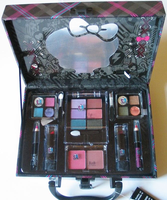 monster high schmink koffer beauty case m licht spiegel neu ebay. Black Bedroom Furniture Sets. Home Design Ideas